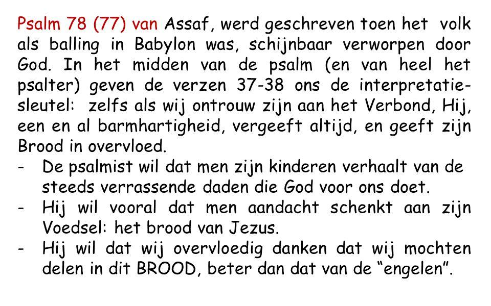 Ex 16,2-4.12-15 In die dagen, toen ze in de woestijn waren, begon heel de gemeenschap van de Israëlieten te morren tegen Mozes en Aäron.