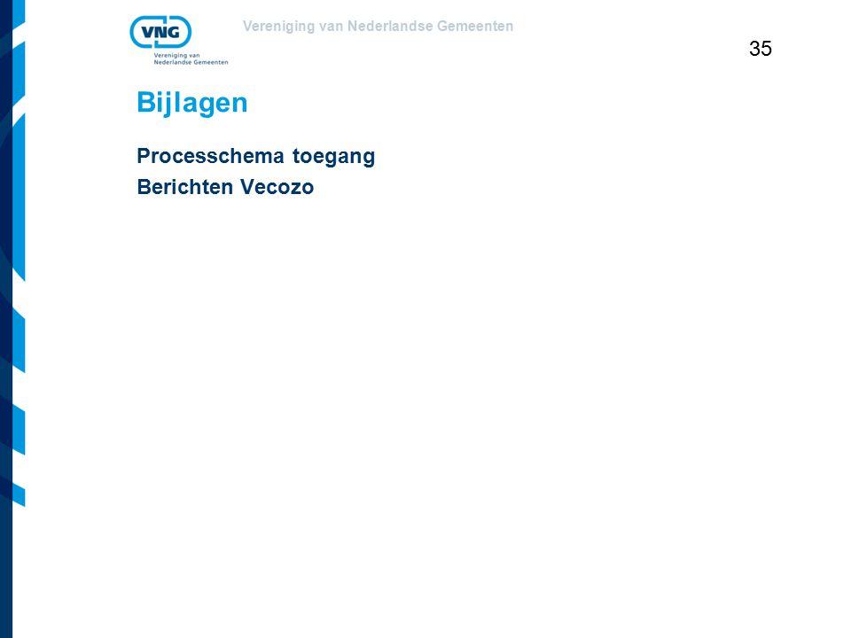 Vereniging van Nederlandse Gemeenten 35 Bijlagen Processchema toegang Berichten Vecozo