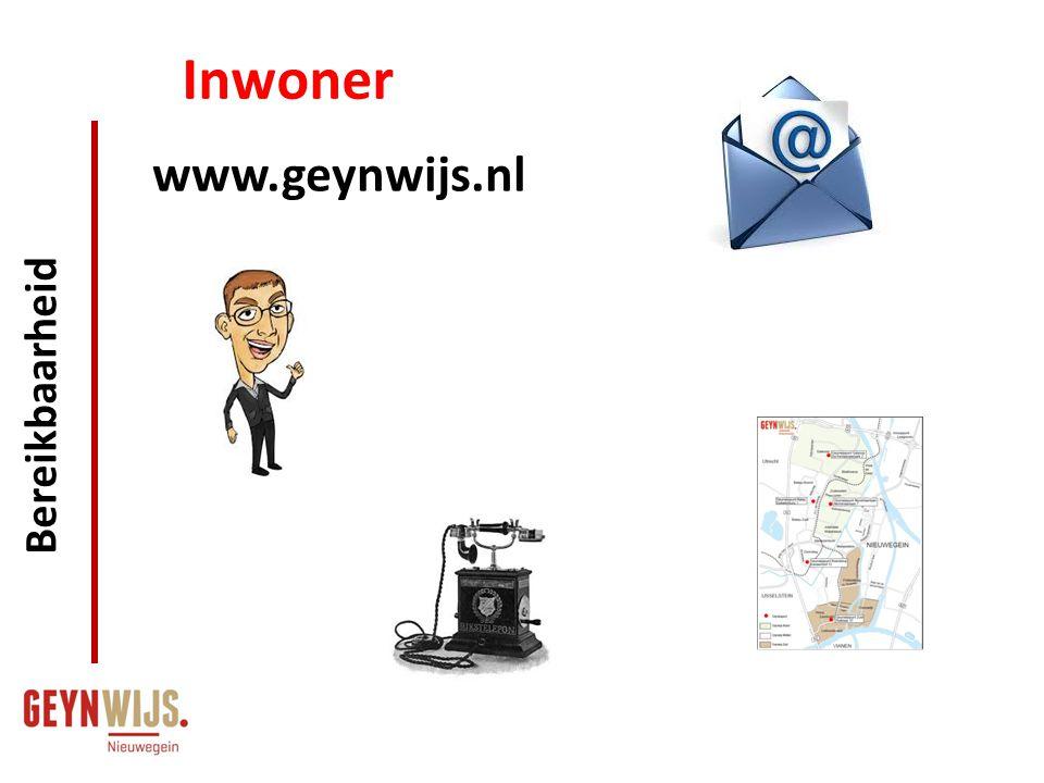 Inwoner Bereikbaarheid www.geynwijs.nl