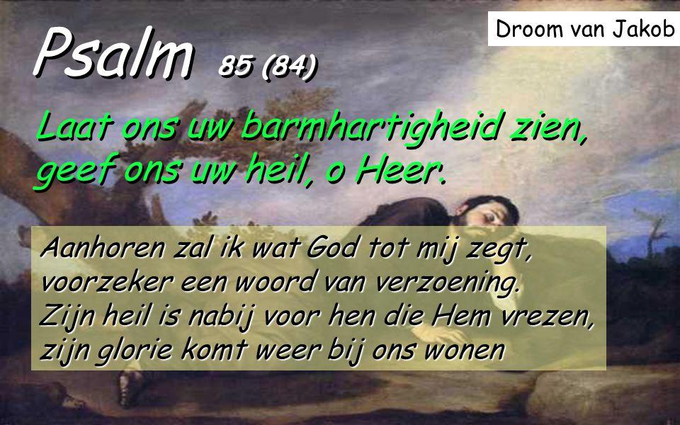 Psalm 85 (84) Laat ons uw barmhartigheid zien, geef ons uw heil, o Heer.