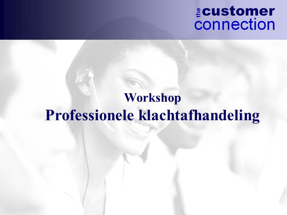 Workshop Professionele klachtafhandeling