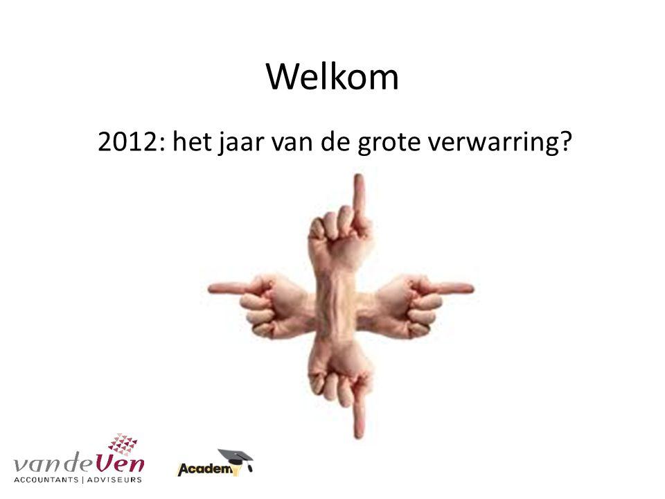 Welkom 2012: het jaar van de grote verwarring