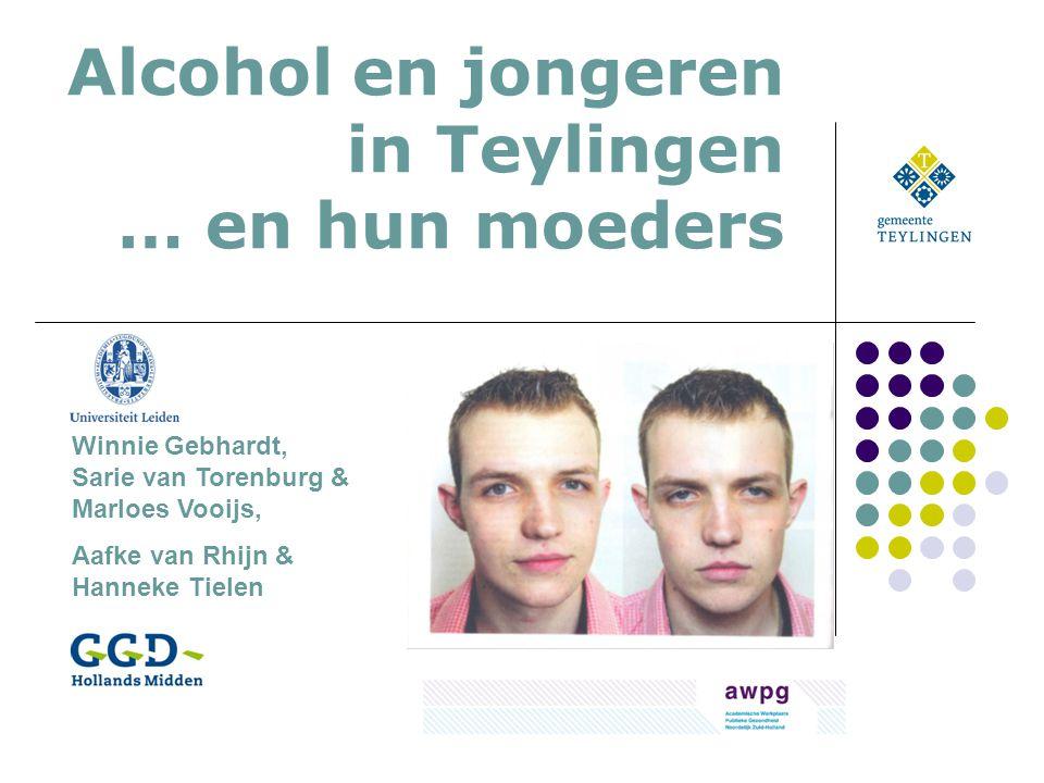 Alcohol en jongeren in Teylingen … en hun moeders Winnie Gebhardt, Sarie van Torenburg & Marloes Vooijs, Aafke van Rhijn & Hanneke Tielen