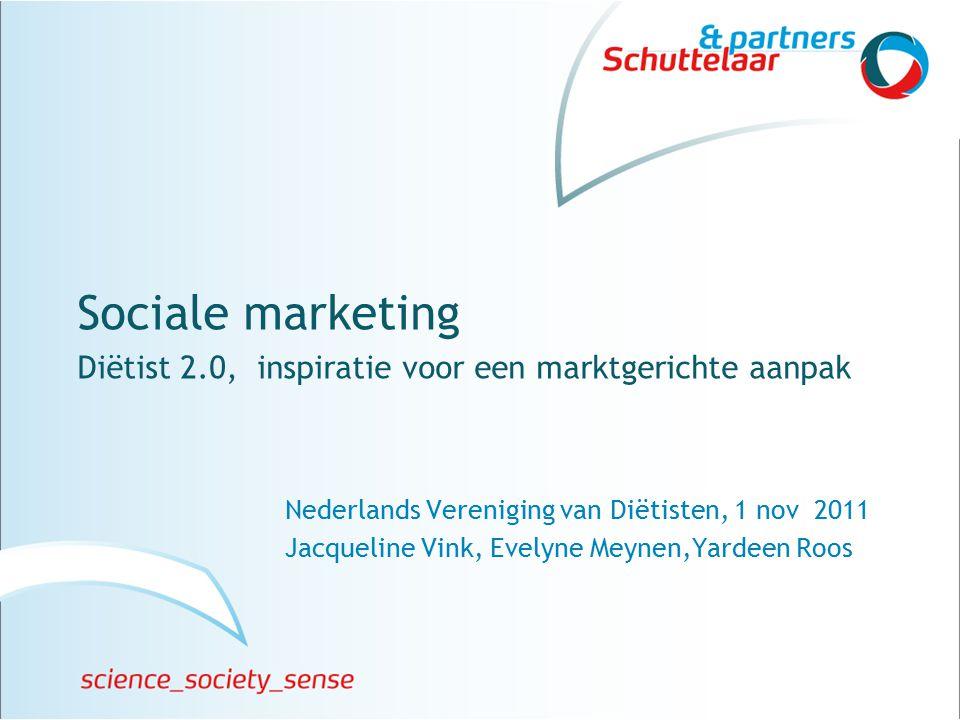 Jacqueline Vink en Evelyne Meynen © Schuttelaar & Partners 12 Wie zijn je stakeholders?