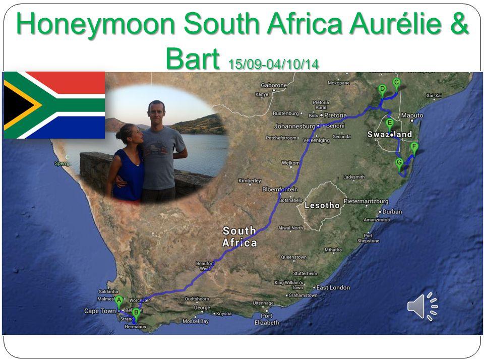 Honeymoon South Africa Aurélie & Bart 15/09-04/10/14