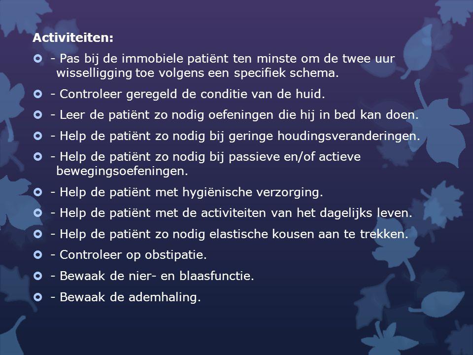 Subgroep opdracht  Maak vraag 4 uit de kennisopdracht en herformuleer indien nodig de doelen  Bedenk zorgresultaat/doelstelling voor jullie zorgvrager die aansluit bij eerder geformuleerde verpleegkundige diagnose.