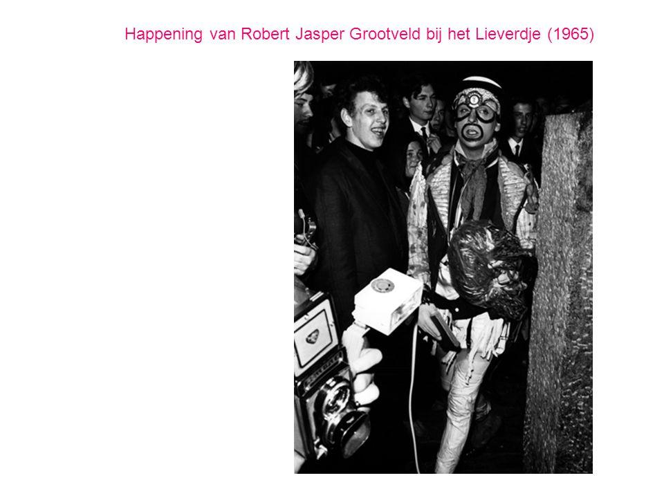 Happening van Robert Jasper Grootveld bij het Lieverdje (1965)