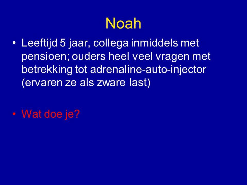 Noah, 5 jaar oud Recent open provocatie pinda: geen bijzonderheden tijdens test, hele test doorlopen + handje pinda's er achter aan Conclusie: geen pinda-allergie (meer) tolerantie geinduceerd.