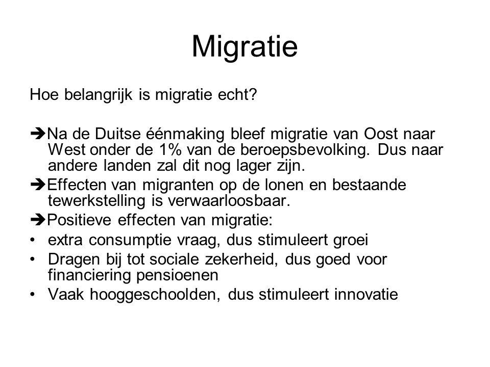Migratie Hoe belangrijk is migratie echt.