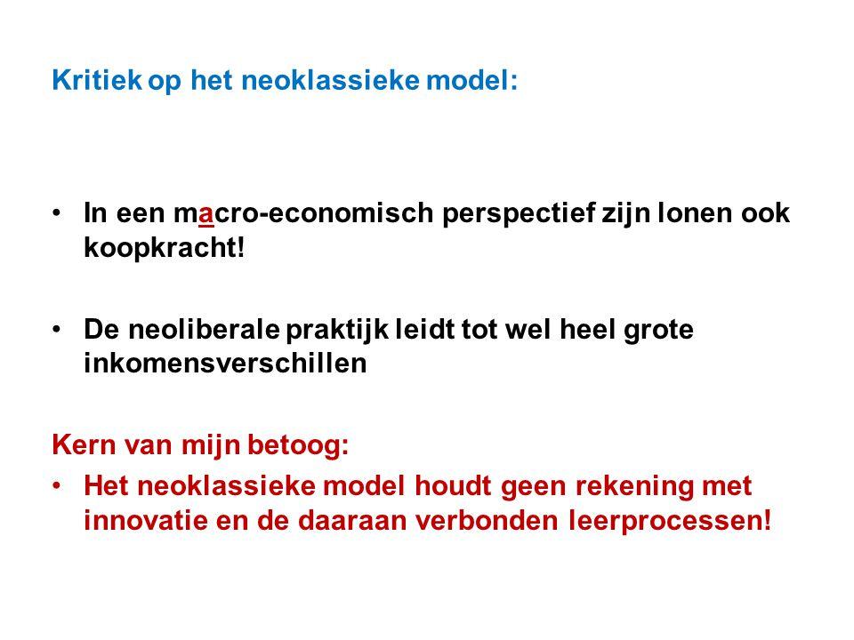 Kritiek op het neoklassieke model: In een macro-economisch perspectief zijn lonen ook koopkracht! De neoliberale praktijk leidt tot wel heel grote ink
