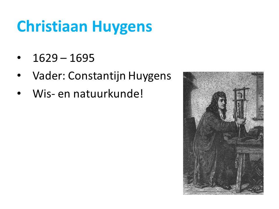 Christiaan Huygens 1629 – 1695 Vader: Constantijn Huygens Wis- en natuurkunde!