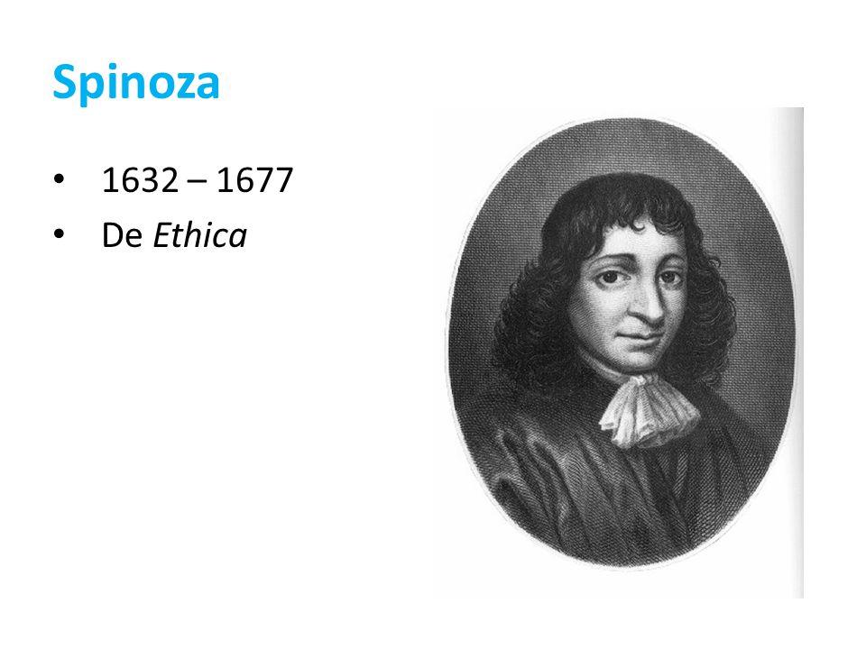 Spinoza 1632 – 1677 De Ethica
