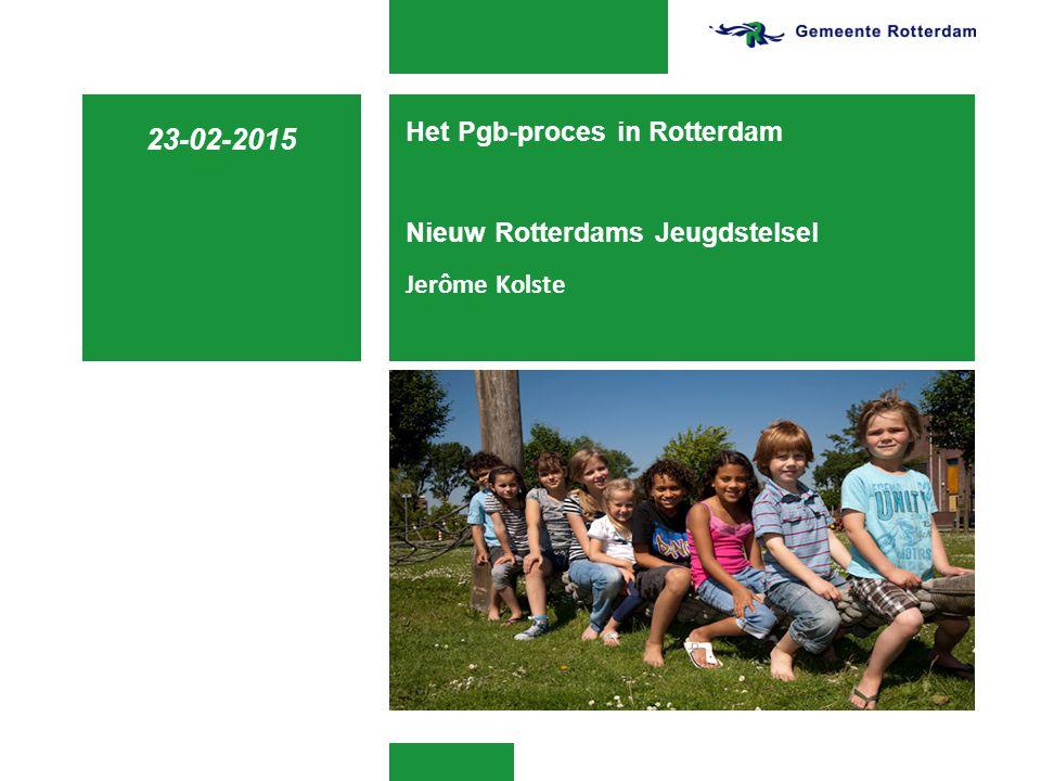 Het Pgb-proces in Rotterdam Nieuw Rotterdams Jeugdstelsel Jerôme Kolste 23-02-2015
