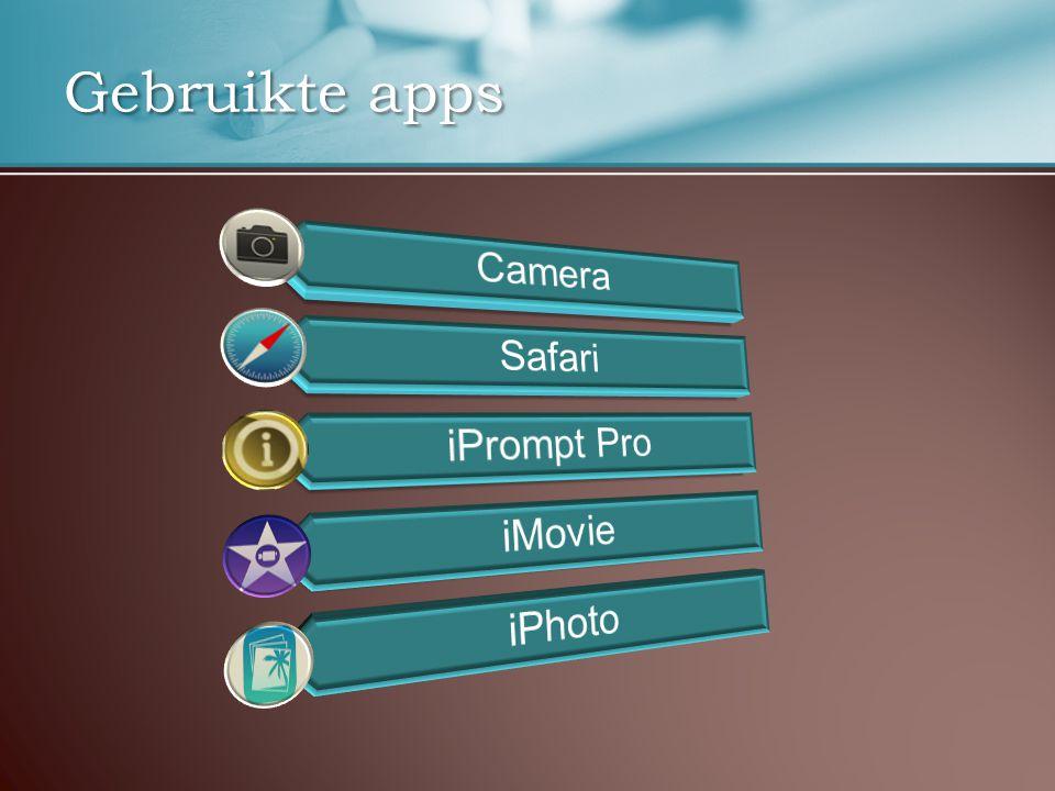 Gebruikte apps