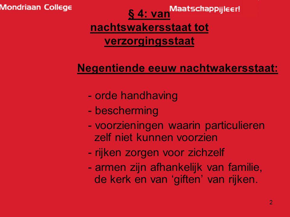 13 Sociale verzekeringen -Volksverzekeringen en Werknemersverzekeringen.