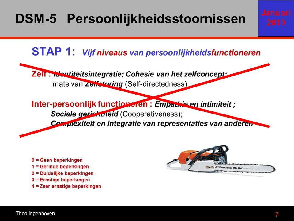 7 DSM-5 Persoonlijkheidsstoornissen Theo Ingenhoven Januari 2010 Eerste voorstel 2010