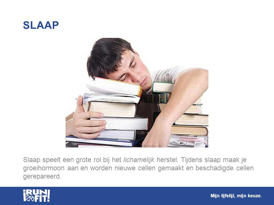 Slaap speelt een grote rol bij het lichamelijk herstel. Tijdens slaap maak je groeihormoon aan en worden nieuwe cellen gemaakt en beschadigde cellen g