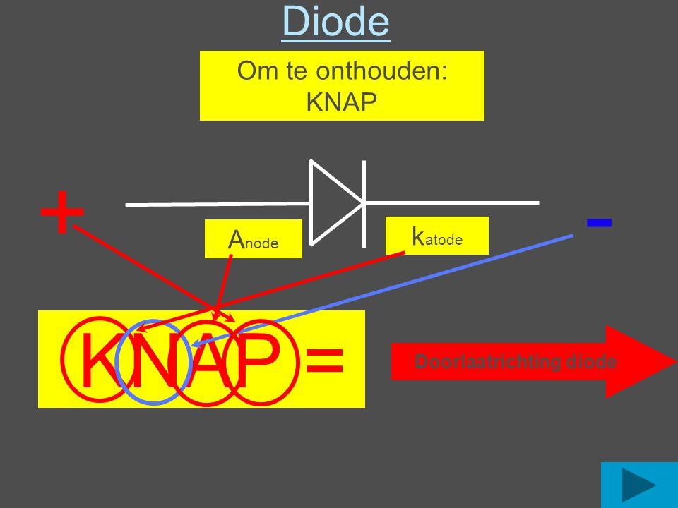 Werking van een diode Om heel de wisselspanning te gebruiken maken we een twee fase gelijkrichter.