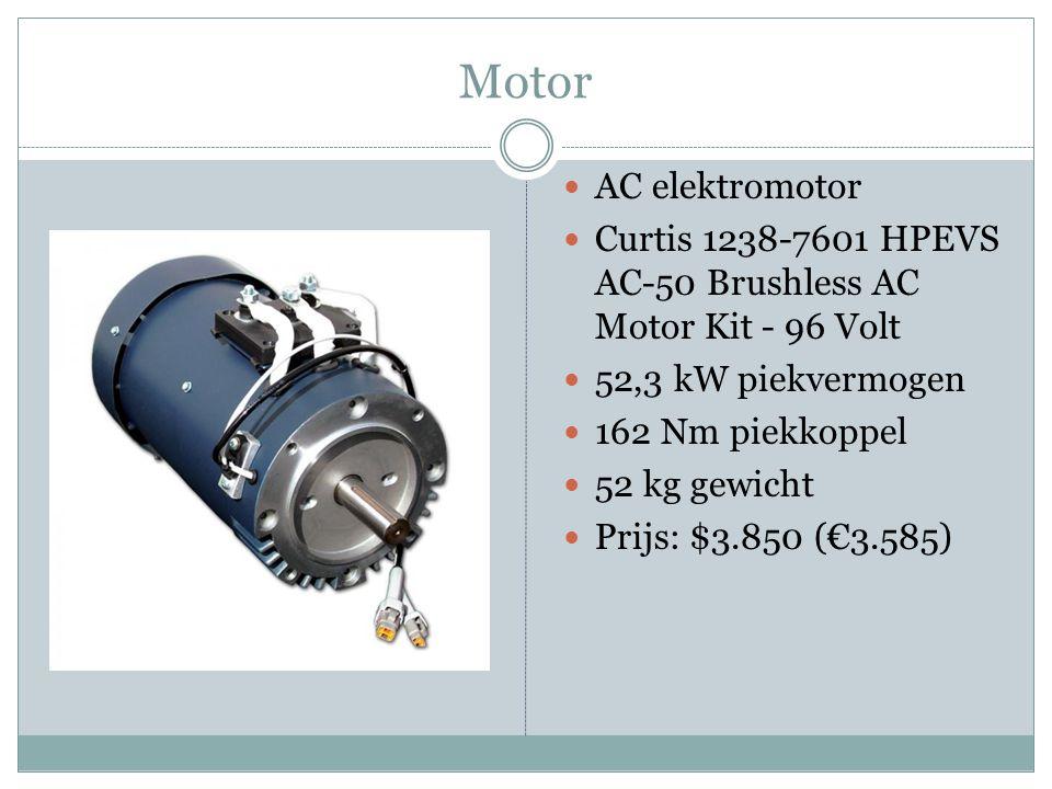 Motor AC elektromotor Curtis 1238-7601 HPEVS AC-50 Brushless AC Motor Kit - 96 Volt 52,3 kW piekvermogen 162 Nm piekkoppel 52 kg gewicht Prijs: $3.850 (€3.585)