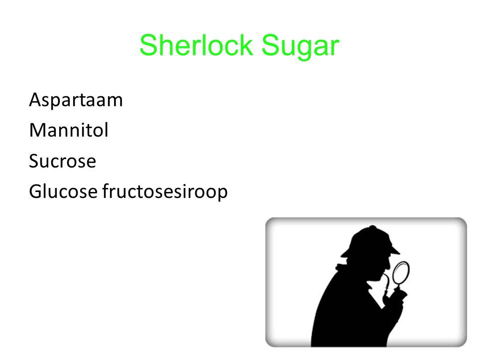 Sherlock Sugar Aspartaam Mannitol Sucrose Glucose fructosesiroop