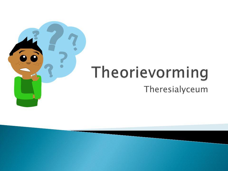 OriëntatieTheorievormingOntwerpplanExperimentVerwerkingRapportagePresentatie Onderzoekscyclus Theorievorming