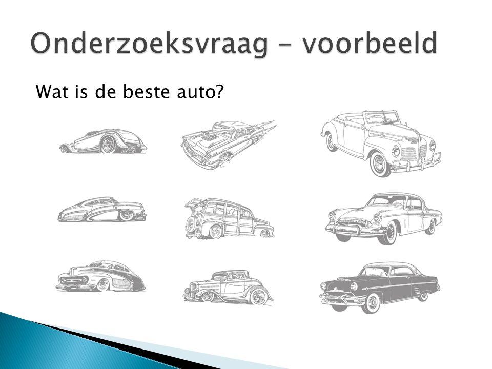 Wat is de beste auto?