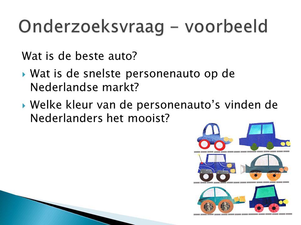  Wat is de snelste personenauto op de Nederlandse markt?  Welke kleur van de personenauto's vinden de Nederlanders het mooist?