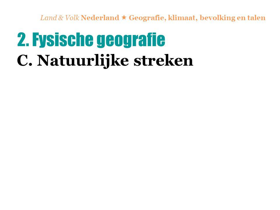 Land & Volk Nederland  Geografie, klimaat, bevolking en talen C. Natuurlijke streken 2. Fysische geografie