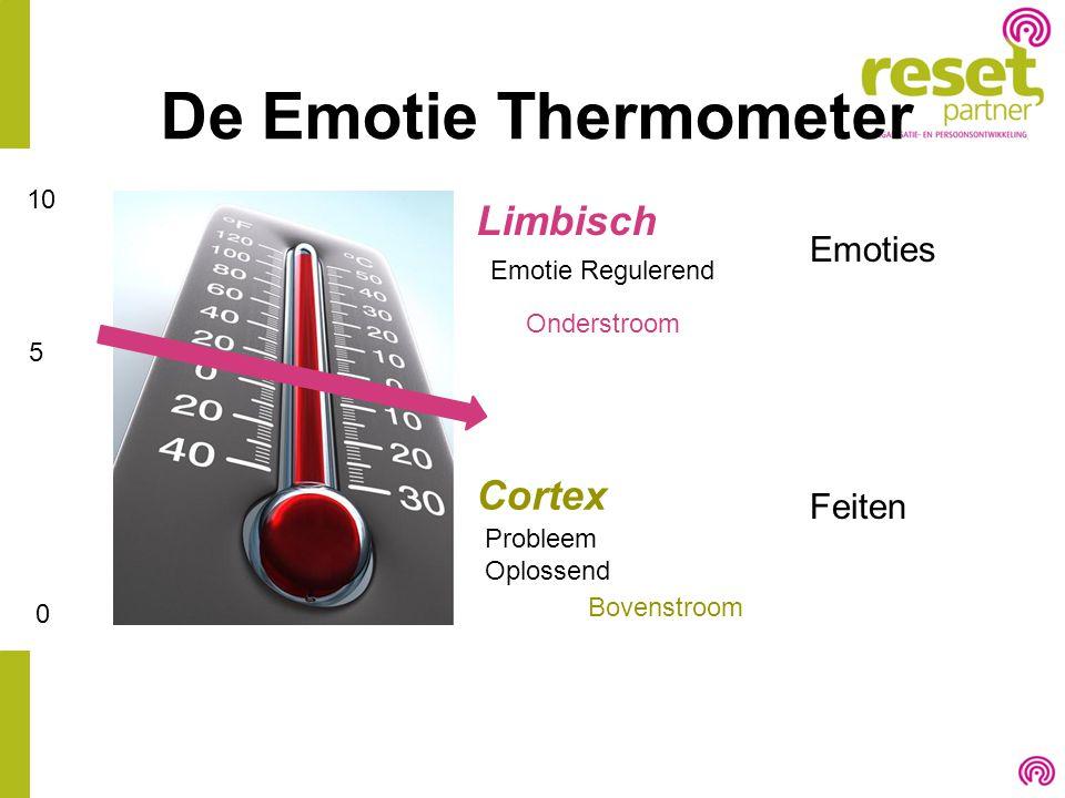 De Emotie Thermometer Limbisch Cortex Emotie Regulerend Probleem Oplossend Feiten Emoties 10 5 0 Onderstroom Bovenstroom