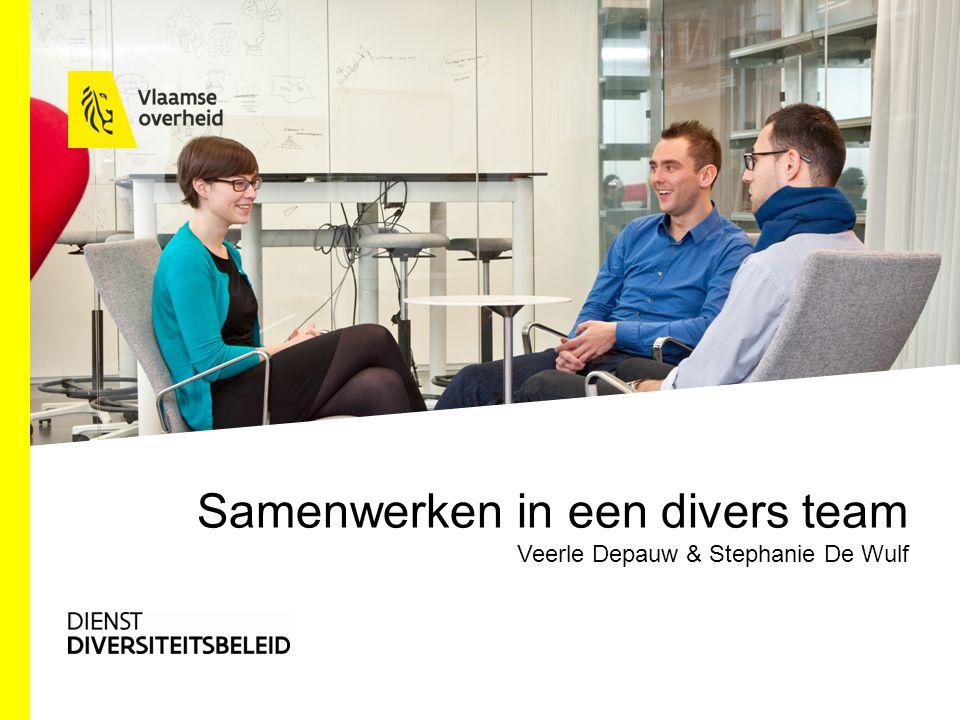 Samenwerken in een divers team Veerle Depauw & Stephanie De Wulf