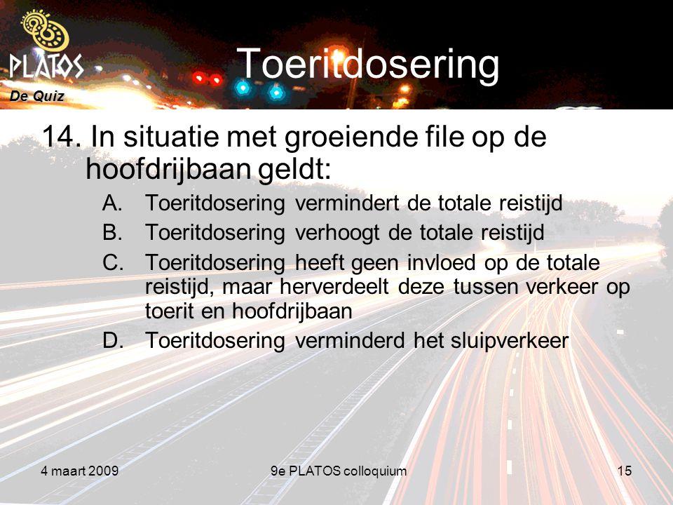 De Quiz Toeritdosering 14.