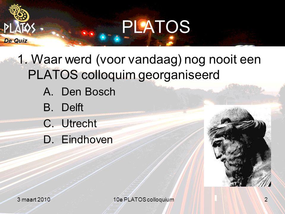 De Quiz PLATOS 1.