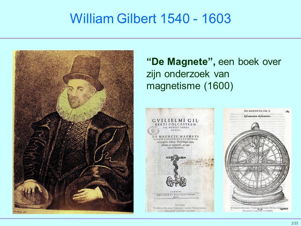 3/33 Otto von Guericke 1602 - 1686 Eerste elektrostatische generator met een bol van zwavel (1660)