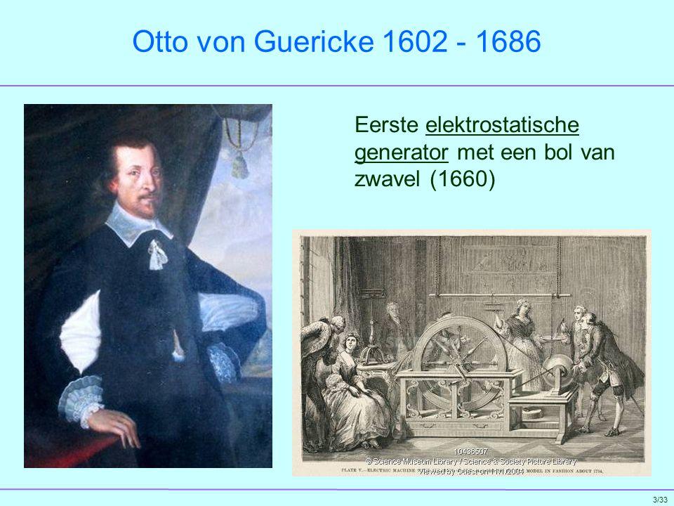 4/33 Pieter van Musschenbroek 1692-1761 De Leidse Fles voor het opslaan van elektrische lading (1746)