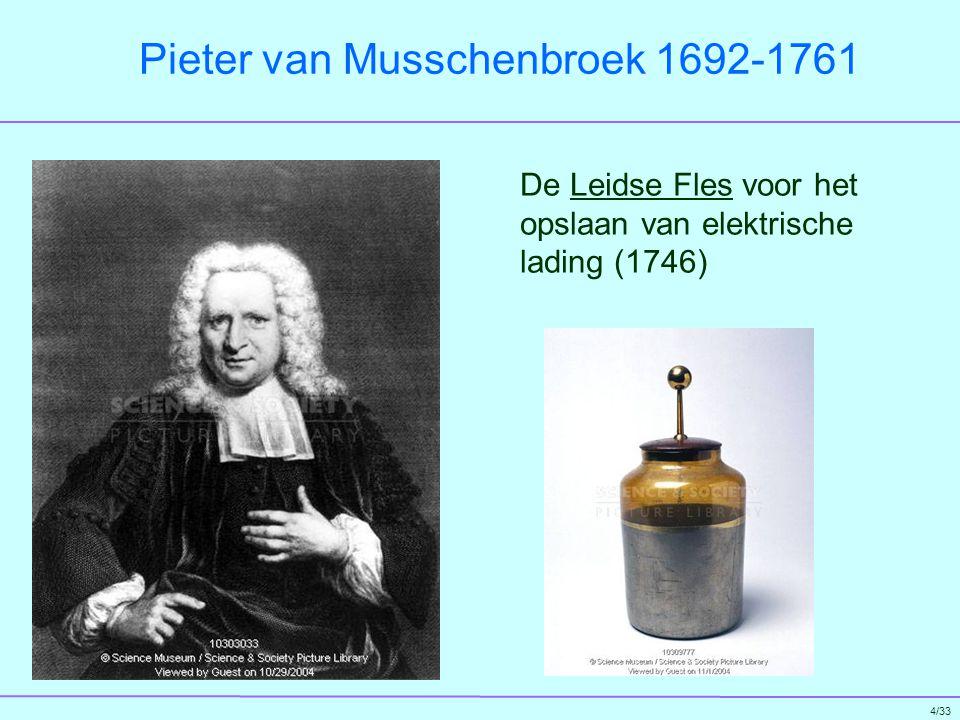 5/33 Benjamin Franklin 1706 - 1790 Experimentator; bewees dat bliksem een elektrische ontlading is (1752)