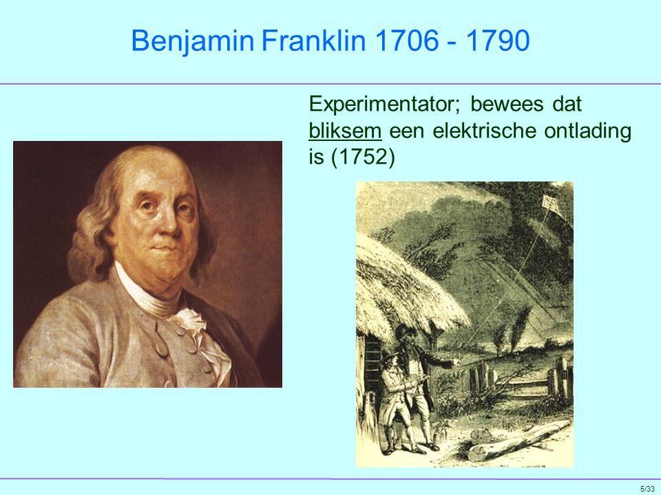 26/33 Herman Ludwig Ferdinand von Helmholtz 1821 - 1894 Een van de laatste brede weten- schappers: Physiologie o.a.