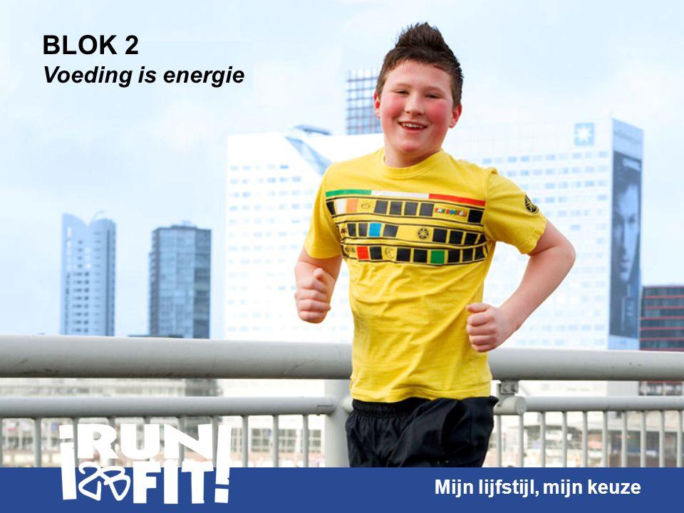BLOK 2 Voeding is energie Mijn lijfstijl, mijn keuze