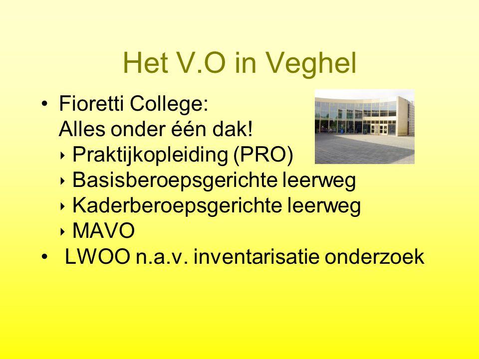 Het V.O in Veghel Fioretti College: Alles onder één dak.