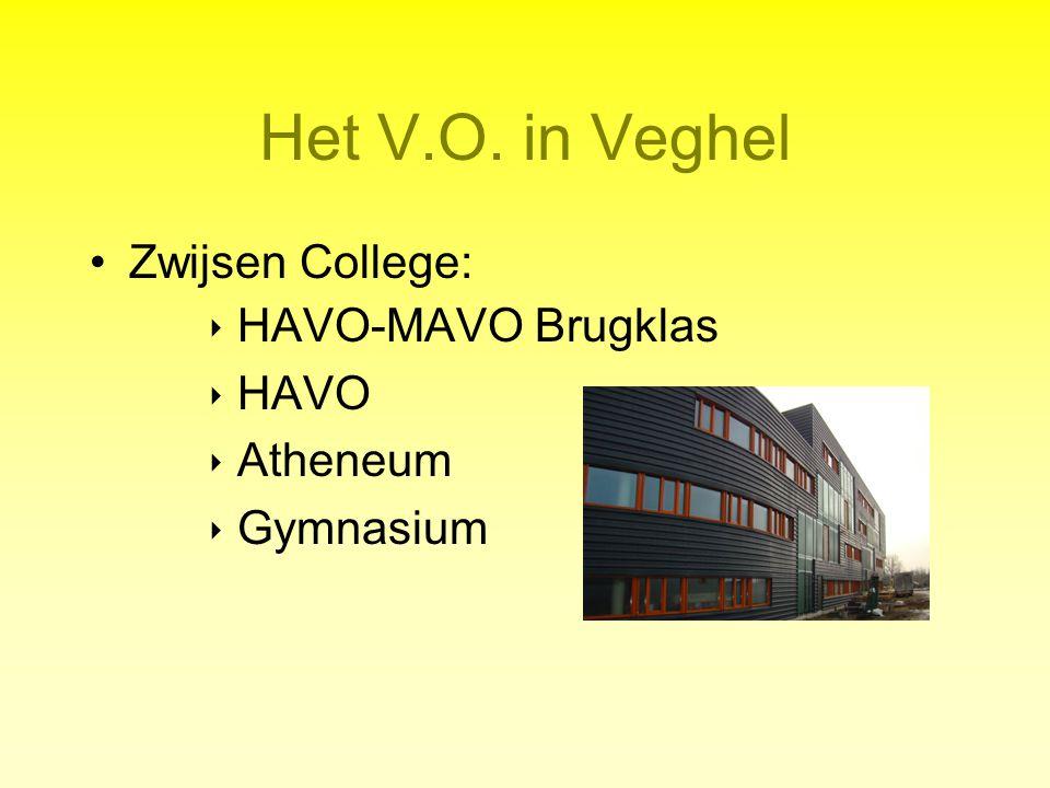 Het V.O. in Veghel Zwijsen College: ‣ HAVO-MAVO Brugklas ‣ HAVO ‣ Atheneum ‣ Gymnasium