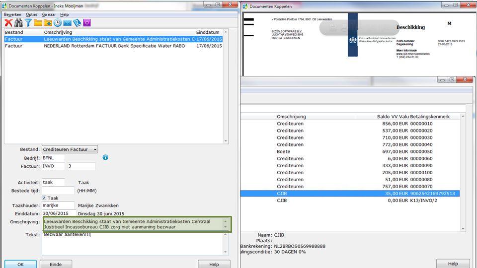 Workflow in Digitaal Dossier Workflow en gespreksnotitie Snelle notitie Via Digitaal dossier Documenten koppelen aan geboekte factuur Via inlezen scanmap Via Drag & Drop