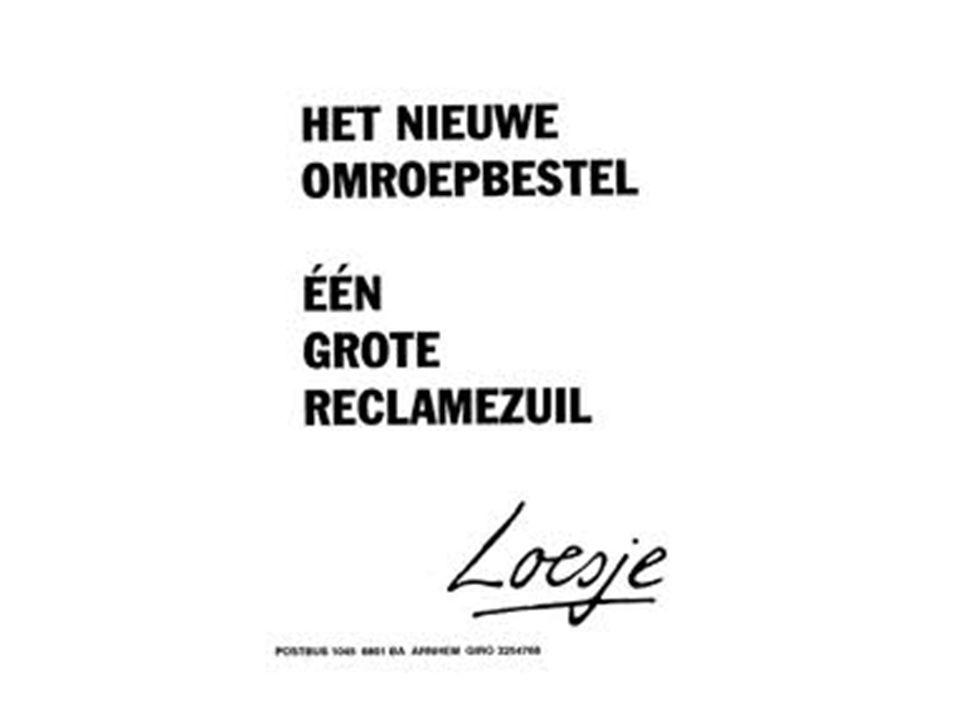 NPO De Nederlandse Publieke Omroep Zender versus omroep Aantal leden --- hoeveelheid zendtijd