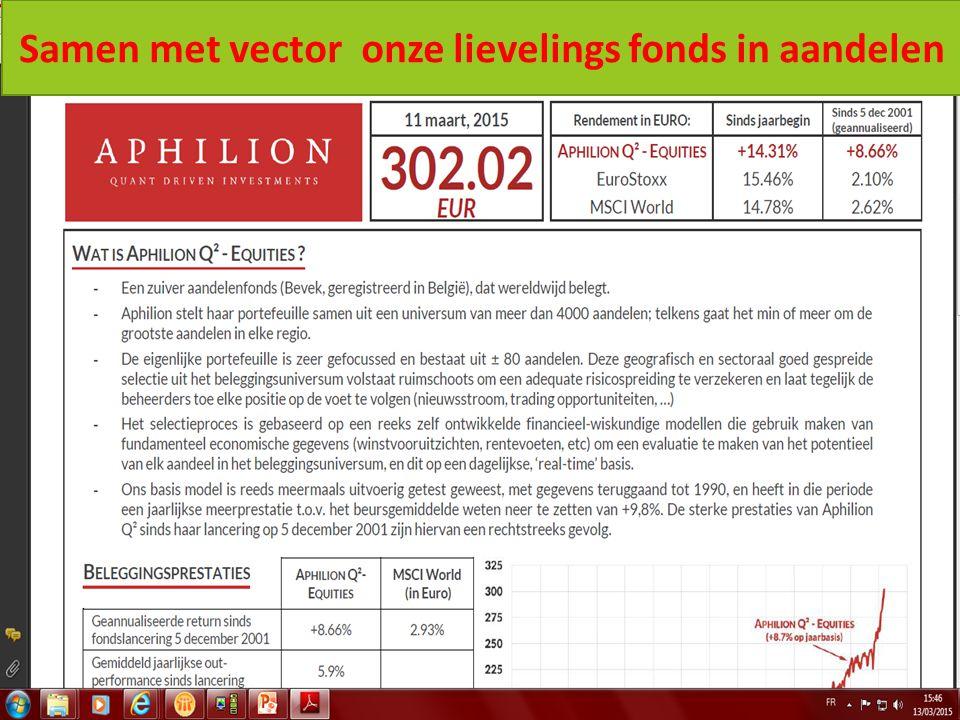 12/08/2015 35 Samen met vector onze lievelings fonds in aandelen