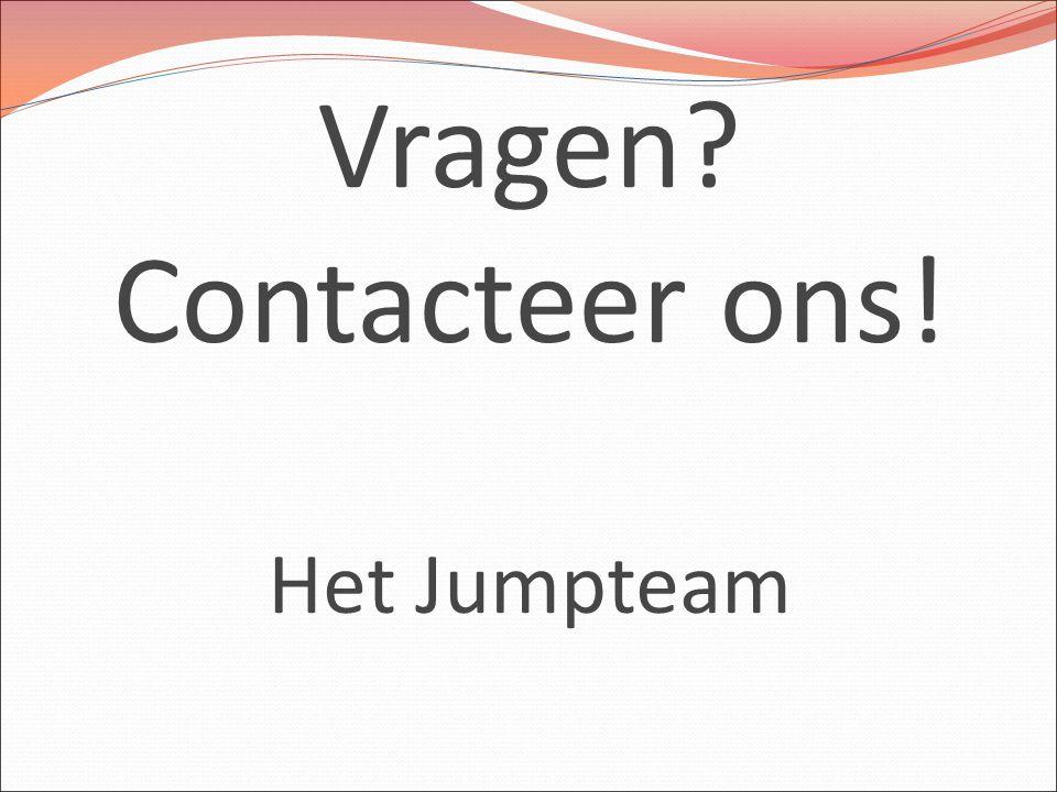 Vragen? Contacteer ons! Het Jumpteam