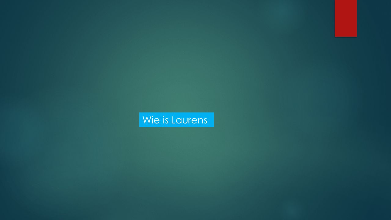 Wie is Laurens