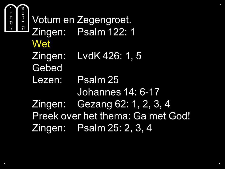 Psalm 25: 2, 3, 4
