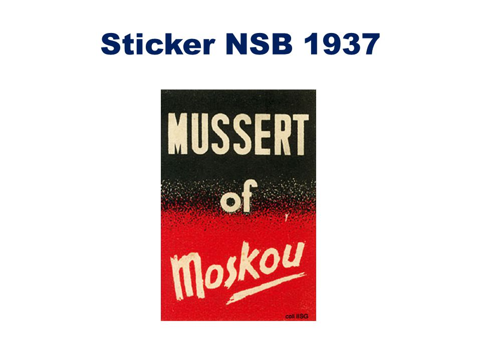 Sticker NSB 1937