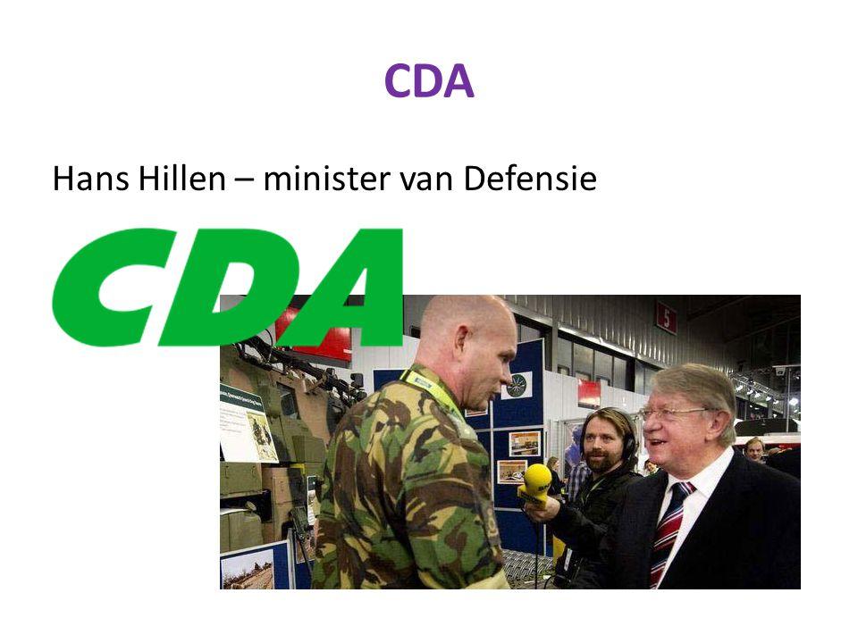CDA Hans Hillen – minister van Defensie