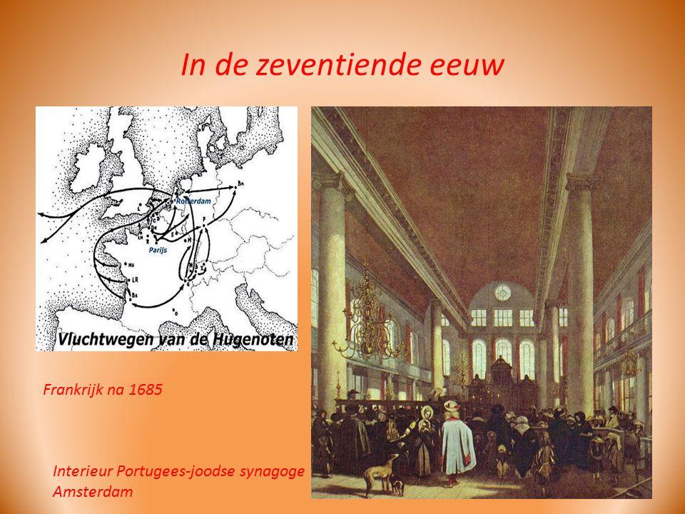 In de zeventiende eeuw Interieur Portugees-joodse synagoge Amsterdam Frankrijk na 1685
