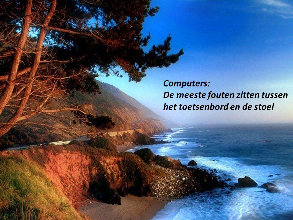 Computers: De meeste fouten zitten tussen het toetsenbord en de stoel