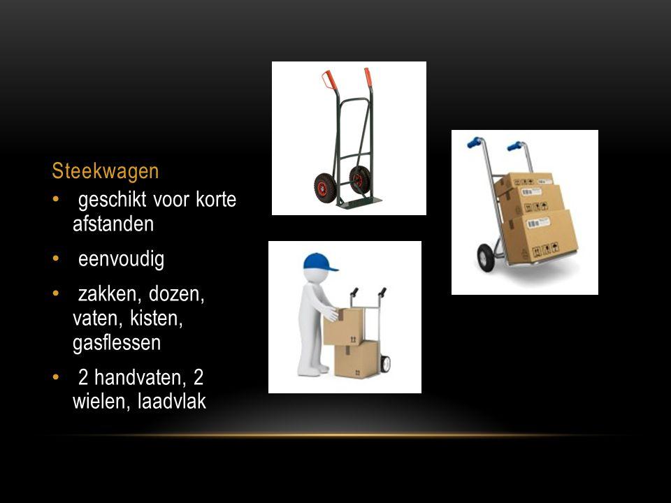 Steekwagen geschikt voor korte afstanden eenvoudig zakken, dozen, vaten, kisten, gasflessen 2 handvaten, 2 wielen, laadvlak